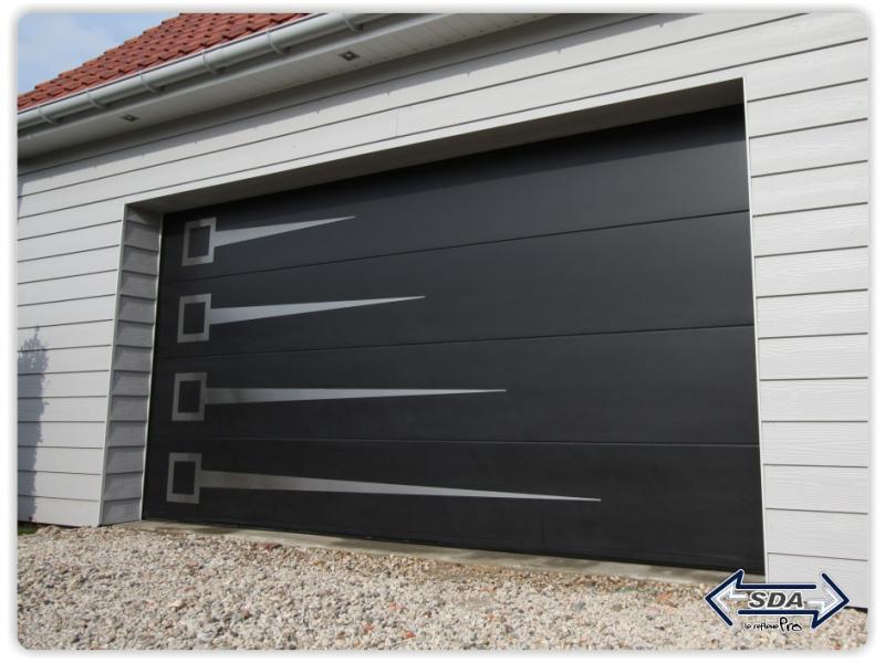 Porte de garage refoulement plafond touat menuiserie - Porte de garage moderne ...